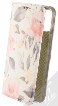 1Mcz Trendy Book Keřík růží 1 flipové pouzdro pro Apple iPhone 12 Pro Max bílá (white)