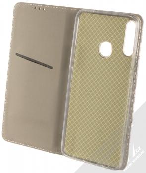 1Mcz Trendy Book Keřík růží 2 flipové pouzdro pro Samsung Galaxy A20s světle šedá (light grey) otevřené