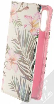 1Mcz Trendy Book Oleandr a kapradí 1 flipové pouzdro pro Samsung Galaxy A20s bílá (white)