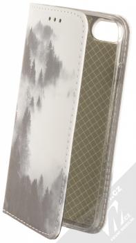 1Mcz Trendy Book Temný les v mlze 2 flipové pouzdro pro Apple iPhone 7, iPhone 8, iPhone SE (2020) bílá (white)