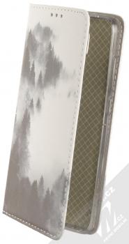 1Mcz Trendy Book Temný les v mlze 2 flipové pouzdro pro Xiaomi Redmi Note 9 bílá (white)