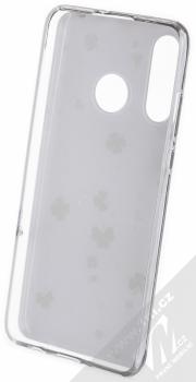 1Mcz Trendy Trojlístky a Čtyřlístky TPU ochranný kryt pro Huawei P30 Lite bílá (white) zepředu