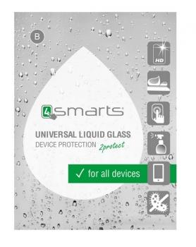 4smarts Liquid Glass Coating, ochranné tekuté sklo pro mobilní telefon, mobil, smartphone průhledná - hadřík
