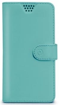 Celly Wally Unica XXL univerzální flipové pouzdro pro mobilní telefon, mobil, smartphone tyrkysová (turquoise)