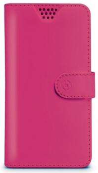 Celly Wally Unica M univerzální flipové pouzdro pro mobilní telefon, mobil, smartphone růžová (fuchsia)