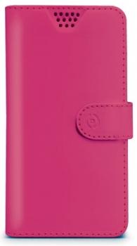 Celly Wally Unica L univerzální flipové pouzdro pro mobilní telefon, mobil, smartphone růžová (fuchsia)