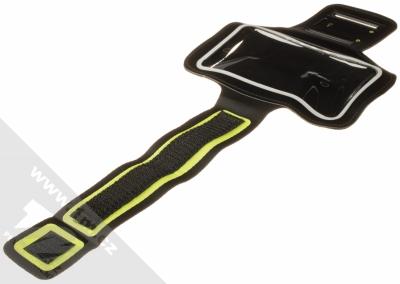Aligator Armband sportovní pouzdro na paži pro mobilní telefon od 5.0 do 6.3 palců černá green (black lime green) rozepnuté
