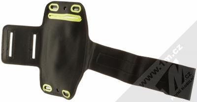 Aligator Armband sportovní pouzdro na paži pro mobilní telefon od 5.0 do 6.3 palců černá green (black lime green) zezadu
