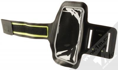 Aligator Armband sportovní pouzdro na paži pro mobilní telefon od 5.0 do 6.3 palců černá green (black lime green)