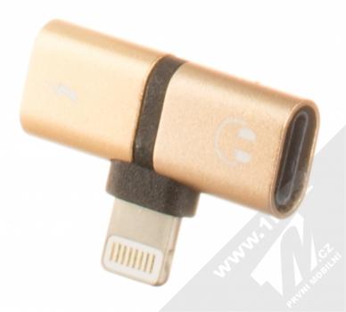 Blue Star Lightning Splitter miniaturní rozdvojovací adaptér s Apple Lightning konektorem zlatá (gold)