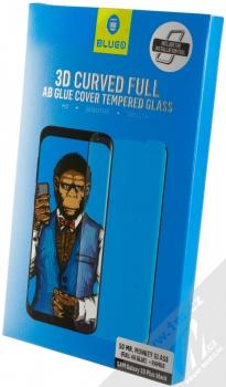 Blueo 5D Mr. Monkey 3D Curved Full AB Glue Cover Tempered Glass ochranné tvrzené sklo na kompletní zahnutý displej pro Samsung Galaxy S9 Plus černá (black) krabička