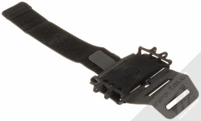 CellularLine Armband Spider sportovní pouzdro na paži pro telefony černá (black) rozepnuté