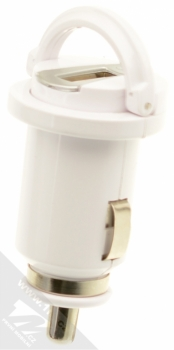 CellularLine USB Car Charger Kit 5W nabíječka do auta s USB výstupem 1A + USB kabel s Lightning konektorem pro Apple iPhone, iPod (licence MFi) bílá (white) nabíječka s držáčkem