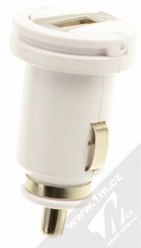 CellularLine USB Car Charger Kit 5W nabíječka do auta s USB výstupem 1A + USB kabel s Lightning konektorem pro Apple iPhone, iPod (licence MFi) bílá (white) nabíječka zepředu