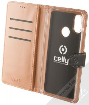 Celly Wally flipové pouzdro pro Xiaomi Mi 8 černá (black) otevřené