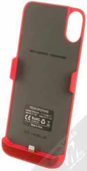 Ferrari Power Case ochranný kryt se záložní baterií 3000mAh pro Apple iPhone X, iPhone XS (FEOFOPCPXRE) červená (red) zepředu
