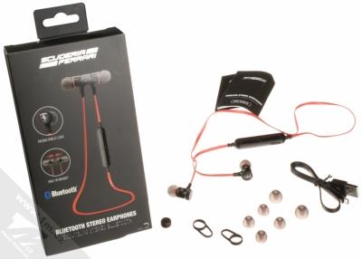 Ferrari Scuderia Bluetooth Stereo Earphones stereo Bluetooth headset s ovladačem červená (red) balení