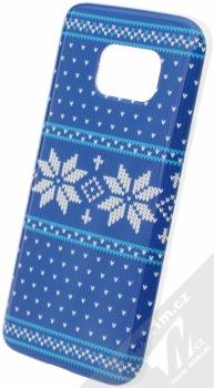 Flavr Ugly Xmas Sweater ochranný kryt s motivem pleteného svetru pro Samsung Galaxy S7 modrá (blue)
