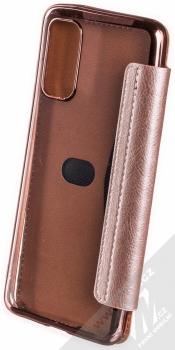 Forcell Electro Book flipové pouzdro pro Samsung Galaxy S20 růžově zlatá (rose gold) zezadu