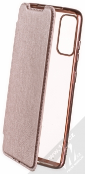Forcell Electro Book flipové pouzdro pro Samsung Galaxy S20 růžově zlatá (rose gold)