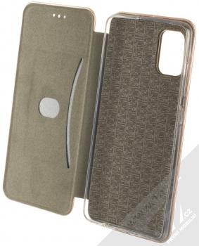 Forcell Elegance Book flipové pouzdro pro Samsung Galaxy A51 růžově zlatá (rose gold) otevřené