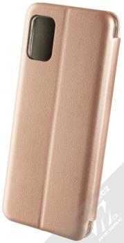 Forcell Elegance Book flipové pouzdro pro Samsung Galaxy A51 růžově zlatá (rose gold) zezadu