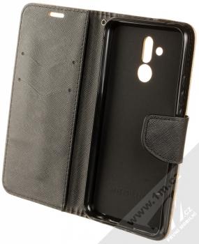 Forcell Fancy Book flipové pouzdro pro Huawei Mate 20 Lite zlatá černá (gold black) otevřené