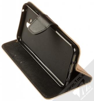 Forcell Fancy Book flipové pouzdro pro Huawei Mate 20 Lite zlatá černá (gold black) stojánek