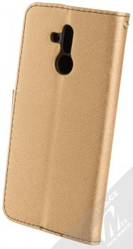 Forcell Fancy Book flipové pouzdro pro Huawei Mate 20 Lite zlatá černá (gold black) zezadu