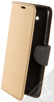 Forcell Fancy Book flipové pouzdro pro Huawei Mate 20 Lite zlatá černá (gold black)