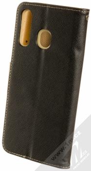 Forcell Fancy Book flipové pouzdro pro Samsung Galaxy A50 černá zlatá (black gold) zezadu