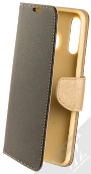 Forcell Fancy Book flipové pouzdro pro Samsung Galaxy A50 černá zlatá (black gold)