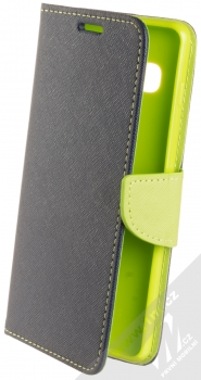 Forcell Fancy Book flipové pouzdro pro Samsung Galaxy S10 Plus modrá limetkově zelená (blue lime)