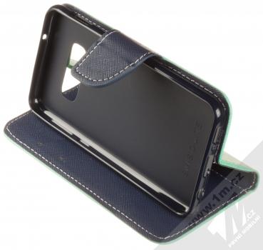 Forcell Fancy Book flipové pouzdro pro Samsung Galaxy S10e mátově zelená modrá (mint blue) stojánek