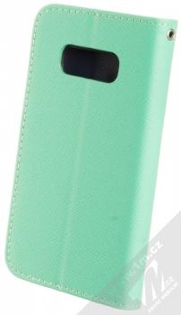 Forcell Fancy Book flipové pouzdro pro Samsung Galaxy S10e mátově zelená modrá (mint blue) zezadu