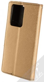 Forcell Fancy Book flipové pouzdro pro Samsung Galaxy S20 Ultra zlatá černá (gold black) zezadu