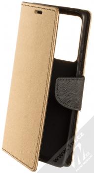 Forcell Fancy Book flipové pouzdro pro Samsung Galaxy S20 Ultra zlatá černá (gold black)