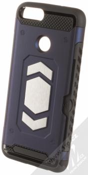 Forcell Magnet odolný ochranný kryt s kapsičkou a kovovým plíškem pro Huawei P Smart tmavě modrá (dark blue)