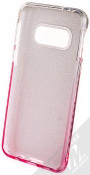Forcell Shining třpytivý ochranný kryt pro Samsung Galaxy S10e stříbrná růžová (silver pink) zepředu