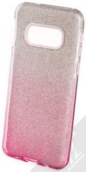 Forcell Shining třpytivý ochranný kryt pro Samsung Galaxy S10e stříbrná růžová (silver pink)
