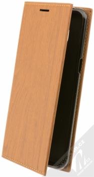 Forcell Wood flipové pouzdro s motivem dřeva pro Samsung Galaxy S8 hnědý dub (oak brown)