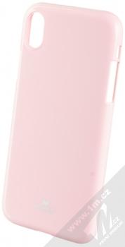 Goospery Jelly Case TPU ochranný silikonový kryt pro Apple iPhone XR světle růžová (light pink)