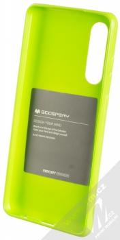 Goospery Jelly Case TPU ochranný silikonový kryt pro Huawei P30 limetkově zelená (lime green) zepředu