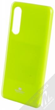 Goospery Jelly Case TPU ochranný silikonový kryt pro Huawei P30 limetkově zelená (lime green)