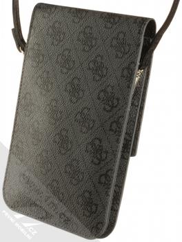 Guess 4G Wallet Universal univerzální pouzdro kabelka s kapsičkami (GUWBSQGBK) tmavě šedá (dark grey) zezadu