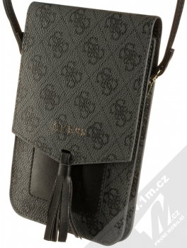 Guess 4G Wallet Universal univerzální pouzdro kabelka s kapsičkami (GUWBSQGBK) tmavě šedá (dark grey)