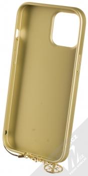 Guess Charms 4G ochranný kryt pro Apple iPhone 12 Pro Max (GUHCP12LGF4GGR) šedá zlatá (grey gold) zepředu