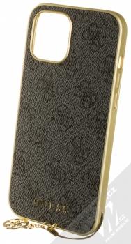 Guess Charms 4G ochranný kryt pro Apple iPhone 12 Pro Max (GUHCP12LGF4GGR) šedá zlatá (grey gold)