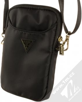 Guess Nylon Triangle Sleeve Universal univerzální pouzdro kabelka s kapsičkami (GUPBNTMLBK) černá (black)