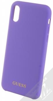 Guess Silicone Logo ochranný kryt pro Apple iPhone X, iPhone XS (GUHCPXLSGLUV) fialová (violet)